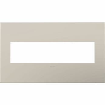 Legrand Adorne AWP4GGG4 Contemporary Greige Greige 4-Gang Wall Plate