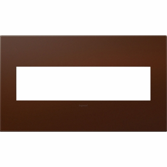 Legrand Adorne AWP4GRS4 Contemporary Russet Soft Touch Russet 4-Gang Wall Plate