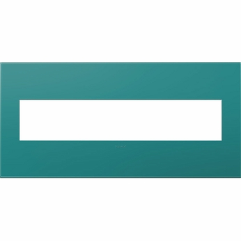 Legrand Adorne AWP5GTB1 Contemporary Turquoise Blue Turquoise Blue 5-Gang Wall Plate