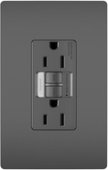 Legrand Radiant 1597NTLTRBKCCD4 Contemporary Black LED Combination Tamper-Resistant 15A Self-Test Night Light / GFCI Outlet
