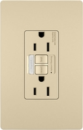 Legrand Radiant 1597NTLTRICC4 Contemporary Ivory LED Combination Tamper-Resistant 15A Self-Test Night Light / GFCI Outlet