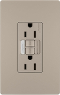 Legrand Radiant 1597NTLTRNICC4 Contemporary Nickel LED Combination Tamper-Resistant 15A Self-Test Night Light / GFCI Outlet