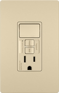 Legrand Radiant 1597SWTTRICCD4 Modern Ivory Combination Tamper-Resistant 15A Self-Test Single Pole Switch / GFCI Outlet