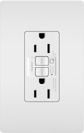 Legrand Radiant 1597TRAW Contemporary White Audible Alarm Tamper-Resistant 15A Self-Test Duplex GFCI Outlet
