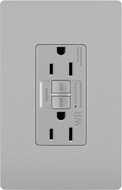 Legrand Radiant 1597TRWRGRY Contemporary Gray Spec-Grade Weather-Resistant 15A Self-Test Duplex GFCI Outlet