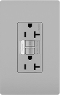Legrand Radiant 2097NTLTRGRY Contemporary Gray LED Combination Tamper-Resistant 20A Self-Test Night Light / GFCI Outlet