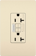 Legrand Radiant 2097NTLTRLA Contemporary Light Almond LED Combination Tamper-Resistant 20A Self-Test Night Light / GFCI Outlet