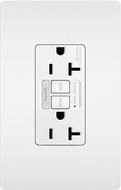 Legrand Radiant 2097NTLTRW Modern White LED Combination Tamper-Resistant 20A Self-Test Night Light / GFCI Outlet