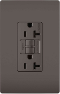 Legrand Radiant 2097TR Contemporary Brown Tamper-Resistant 20A Self-Test Duplex GFCI Outlet