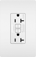 Legrand Radiant 2097TRW Contemporary White Tamper-Resistant 20A Self-Test Duplex GFCI Outlet