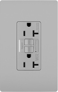 Legrand Radiant 2097TRWRGRY Modern Gray Weather-Resistant 20A Self-Test Duplex GFCI Outlet