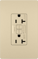 Legrand Radiant 2097TRWRI Contemporary Ivory Weather-Resistant 20A Self-Test Duplex GFCI Outlet