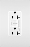 Legrand Radiant 2097TRWRW Contemporary White Weather-Resistant 20A Self-Test Duplex GFCI Outlet