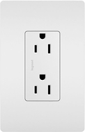 Legrand Radiant 885TRW Contemporary White 15A Decorator Tamper-Resistant Outlet Receptacle