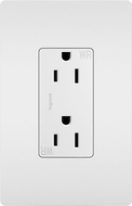Legrand Radiant 885TRWRW Contemporary White 15A Decorator Tamper-Resistant Weather-Resistant Outlet Receptacle