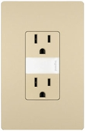 Legrand Radiant NTL885TRICC6 Contemporary Ivory LED Night Light w/ Two 15A Tamper-Resistant Outlets