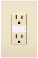 Legrand Radiant NTL885TRLACC6 Modern Light Almond LED Night Light w/ Two 15A Tamper-Resistant Outlets