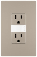 Legrand Radiant NTL885TRNICC6 Contemporary Nickel LED Night Light w/ Two 15A Tamper-Resistant Outlets
