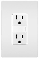 Legrand Radiant NTL885TRW Modern White LED Night Light w/ Two 15A Tamper-Resistant Outlets