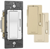 Legrand Radiant RH703PTC Modern Tri-Color Incandescent 1P and 3-Way Paddle 700W Radiant Dimmer