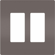 Legrand Radiant RWP262 Contemporary Brown 2-Gang Screwless Wall Plate