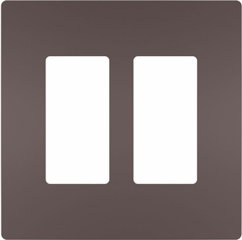 Legrand Radiant RWP262DBCC6 Contemporary Dark Bronze 2-Gang Screwless Wall Plate