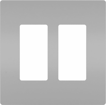 Legrand Radiant RWP262GRY Modern Gray 2-Gang Screwless Wall Plate