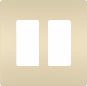 Legrand Radiant RWP262I Contemporary Ivory 2-Gang Screwless Wall Plate