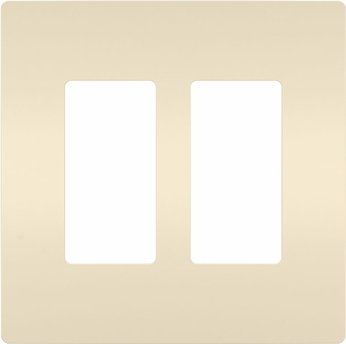 Legrand Radiant RWP262LA Modern Light Almond 2-Gang Screwless Wall Plate