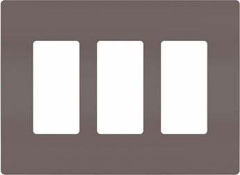Legrand Radiant RWP263 Contemporary brown 3-Gang Screwless Wall Plate
