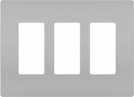Legrand Radiant RWP263GRY Modern Gray 3-Gang Screwless Wall Plate