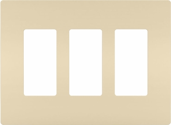 Legrand Radiant RWP263I Contemporary Ivory 3-Gang Screwless Wall Plate