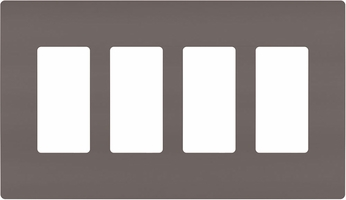 Legrand Radiant RWP264 Contemporary Brown 4-Gang Screwless Wall Plate