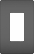 Legrand Radiant RWP26BK Contemporary Black 1-Gang Screwless Wall Plate