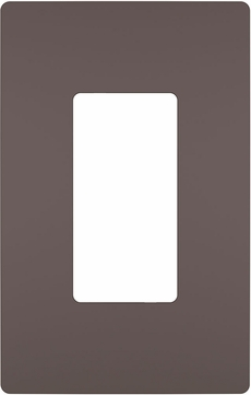 Legrand Radiant RWP26DBCC6 Modern Dark Bronze 1-Gang Screwless Wall Plate