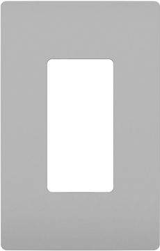 Legrand Radiant RWP26GRY Contemporary Gray 1-Gang Screwless Wall Plate