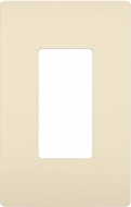 Legrand Radiant RWP26LA Contemporary Light Almond 1-Gang Screwless Wall Plate