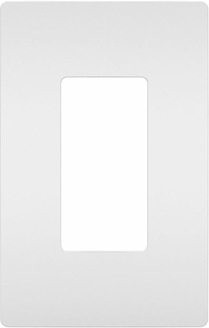 Legrand Radiant RWP26W Contemporary White 1-Gang Screwless Wall Plate