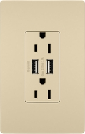 Legrand Radiant TM826USBICC6 Contemporary Ivory Outlet & 2.0 / 3.0 USB Charger