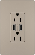 Legrand Radiant TM826USBNICC6 Contemporary Nickel Outlet & 2.0 / 3.0 USB Charger
