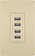 Legrand Radiant TM8USB4ICC6 Modern Ivory Quad USB 2.0 / 3.0 Charging Outlet