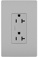 Legrand Radiant TR26352RGRY Modern Gray 20A Decorator Tamper-Resistant Receptacle
