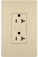 Legrand Radiant TR26352RI Contemporary Ivory 20A Decorator Tamper-Resistant Receptacle