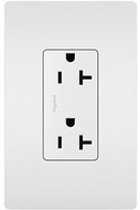 Legrand Radiant TR26352RW Contemporary White 20A Decorator Tamper-Resistant Receptacle