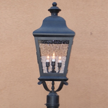Lighting Innovations 1243 Traditional Exterior 18 Wide x 44.3 Tall Lamp Post Light Fixture