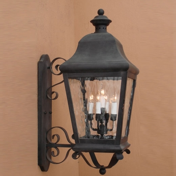 Lighting Innovations 1283 Traditional Outdoor 8.5 Wide x 22.5 Tall Wall Lighting Sconce