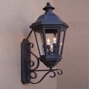 Lighting Innovations BB1424 Traditional Exterior 16 Wide x 34.3 Tall Wall Light Sconce