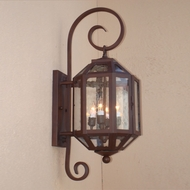 Lighting Innovations BP2202 Outdoor 10 Wide x 32.6 Tall Wall Sconce Light