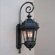 Lighting Innovations BP5814 Traditional Outdoor 15  Wide x 36.5  Tall Wall Mounted Lamp