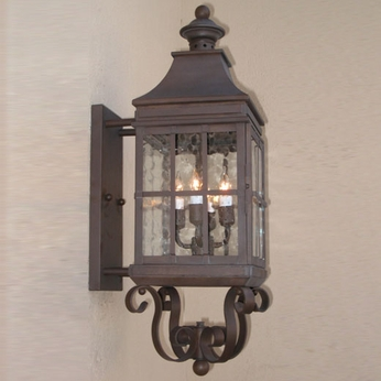 Lighting Innovations BPS2008 Outdoor 8.9 Wide x 26.8 Tall Lamp Sconce